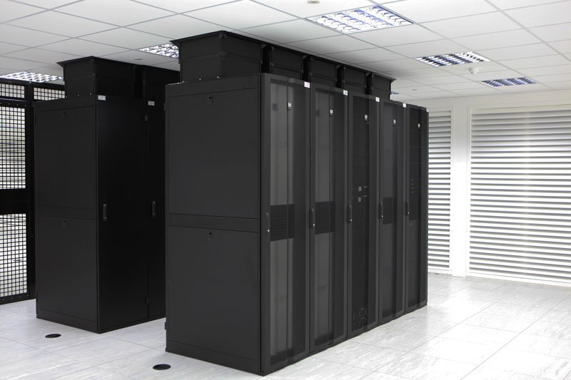 Server Room with Hot Aisle Containment